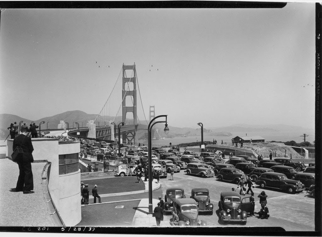 Treasure Island, sitting underneath the Bay Bridge, was built to celebrate the opening of the Bay Bridge and the Golden Gate Bridge, which coincided with the 1939 World Fair.